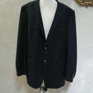 Hart Schaffner Marx Men's Navy Sport Jacket 48 L